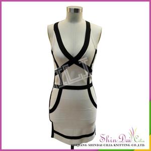 Latest Fashion Short Design Ladies Dress A-line Sweater Lady